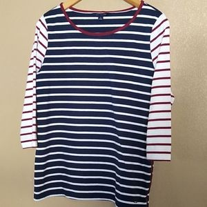 Tommy Hilfiger Basic Red White Blue Top M